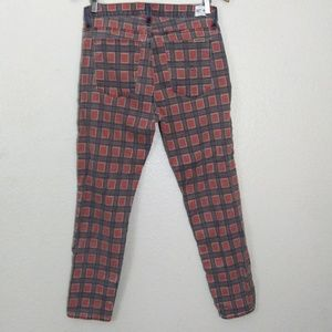 Hudson patti vice versa red plaid jeans